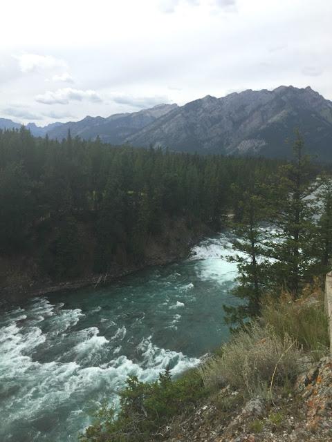 bow river, bowfalls, banff