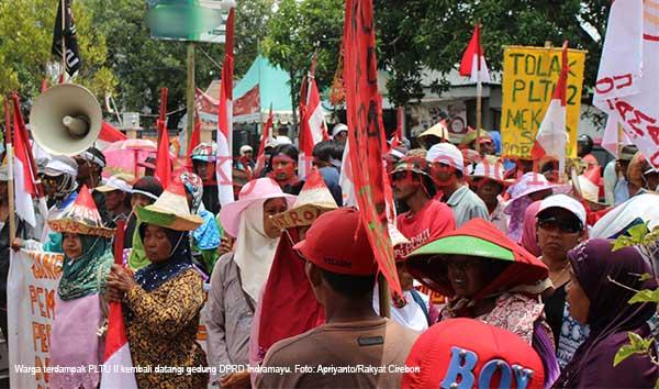 warga mekarsari indramayu kembali demo pltu dua