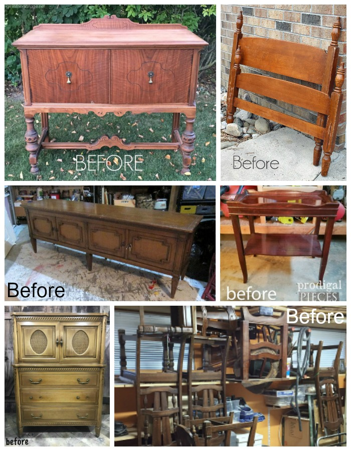 Furniture Fixer Uppers Challenge January Befores
