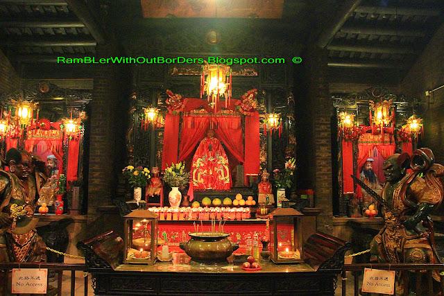 Main hall, Tin Hau Temple, Aberdeen, Hong Kong