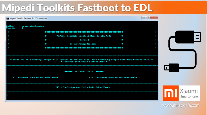 MipediTools Kits Fastboot Mode to EDL