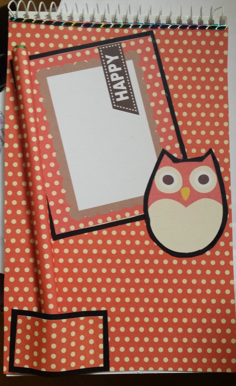Owl shorthand notebook with pencil and A7 notebook