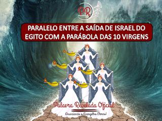 PARALELO ENTRE A SAÍDA DE ISRAEL DO EGITO COM A PARÁBOLA DAS 10 VIRGENS