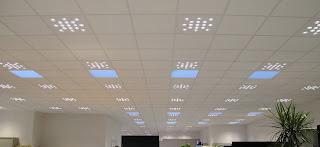 Luminaria de techo para oficina