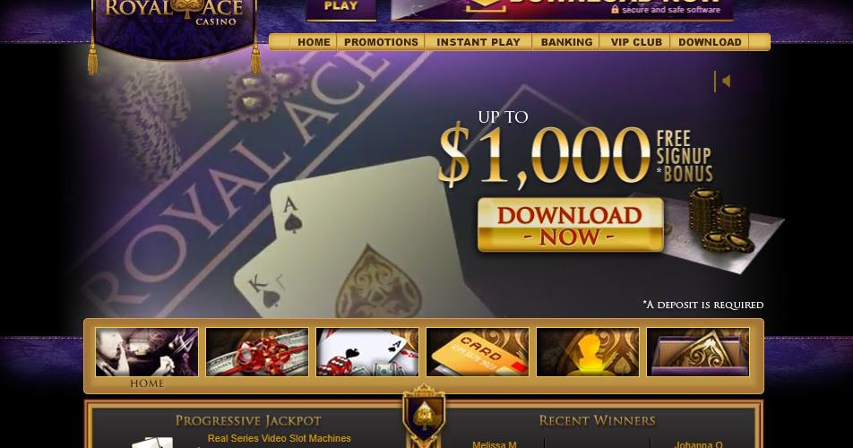 royal ace casino welcome bonus