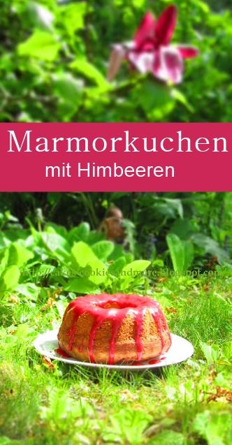 Marmorkuchen mit Himbeeren