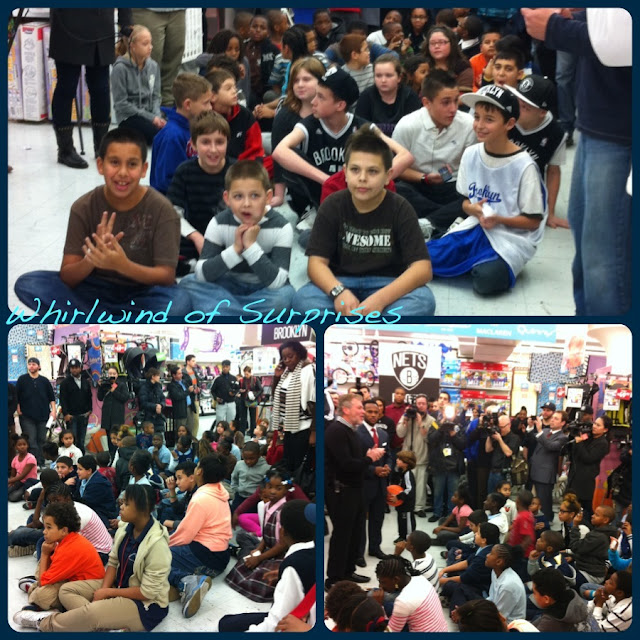 Kids affected by Hurricane Sandy about to go on a $250 Shopping spree at #CookiesKids with the Brooklyn Nets stars