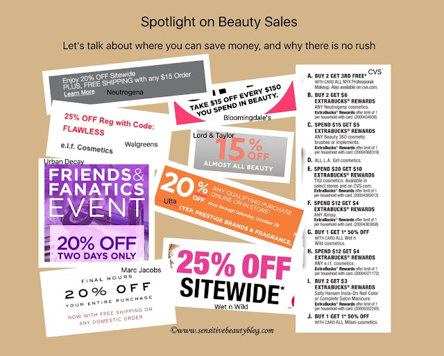 Let's talk about where you can save money on beauty products and why there is no rush.