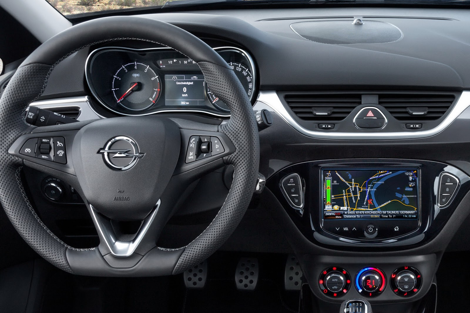 new photos of opel corsa opc expose interior carscoops