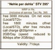 "BSNL Launches ""Nehle per dehla"" STV 395  to offer 2GB 3G data and unlimited calling valid for 71 days"