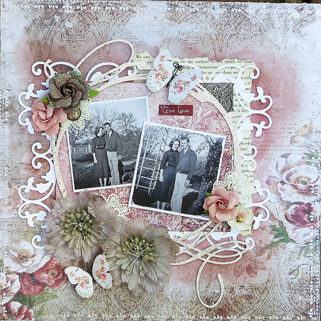 Heritage Love Layout by Kathy Mosher