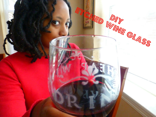 diy etched wine glass tutorial
