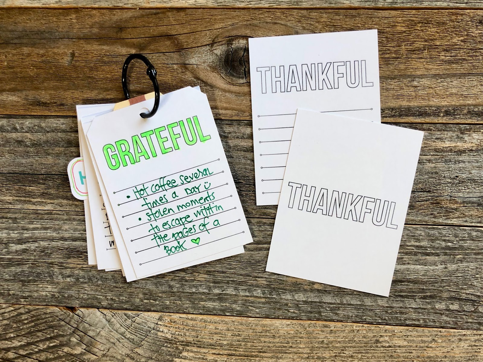 #Gratitude Journal #Gratitude #Grateful #Journal  #365 Things #Journaling Cards #Pocket Pages #Digital Download  #Things I Am Grateful For