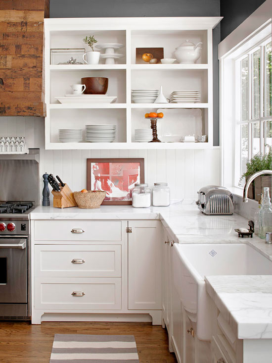 2013 White Kitchen Decorating Ideas from BHG  Interior Design Ideas
