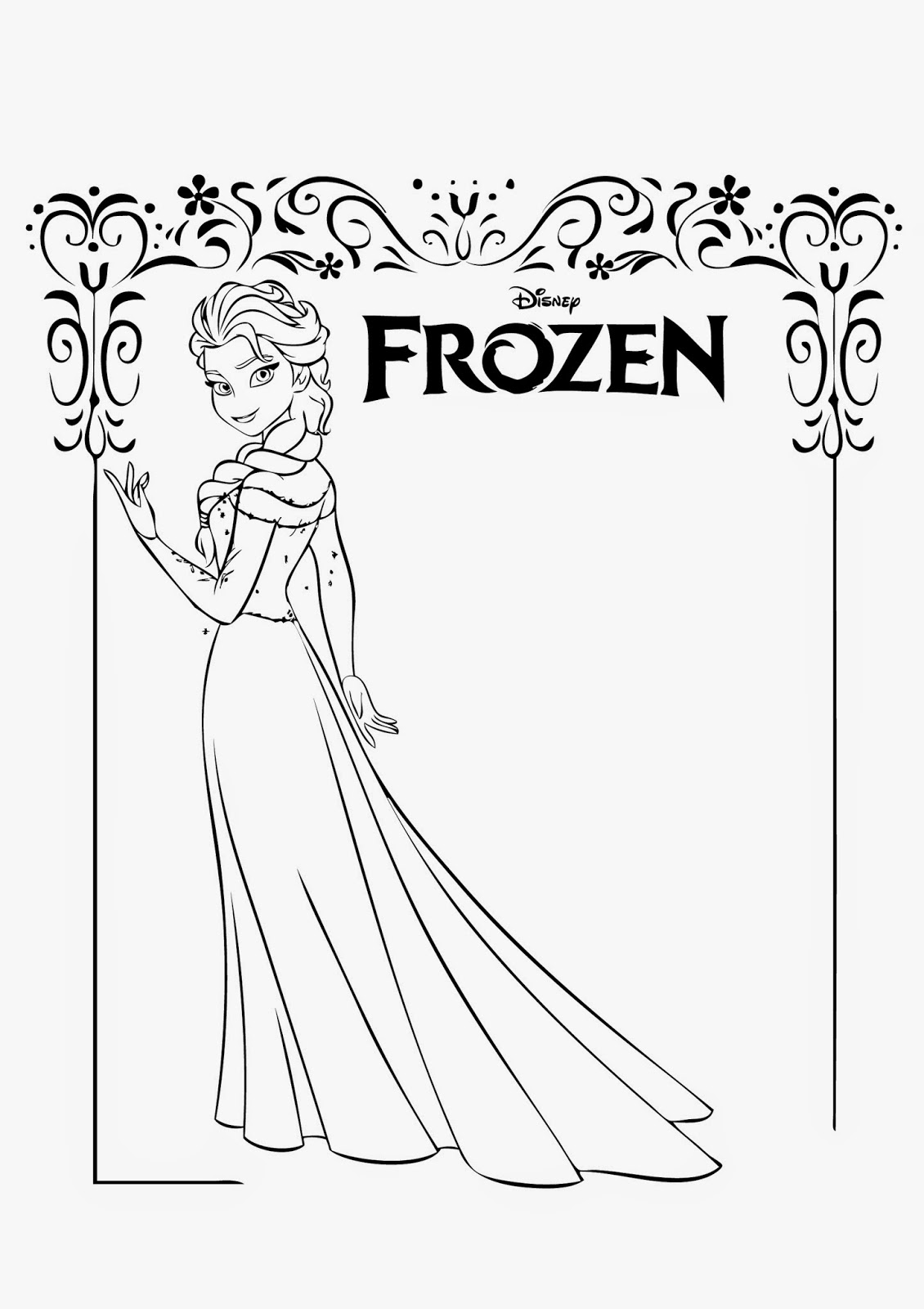 4 Beautiful Elsa Coloring Pages To Print