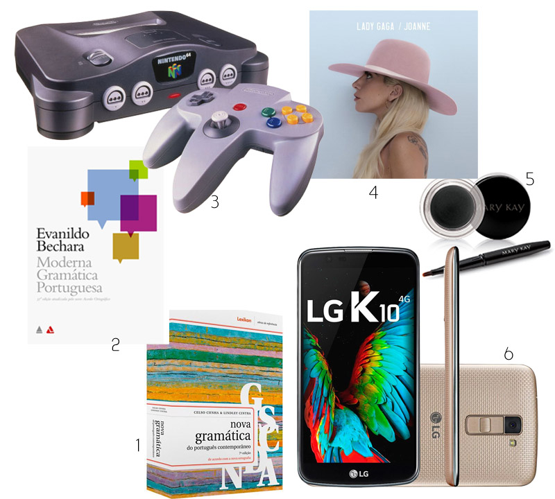 Nintendo 64, Gramática Becha e Cunha, Delineador em Gel Mary Kay, LG k10