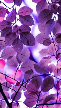 fondo celular hojas violetas