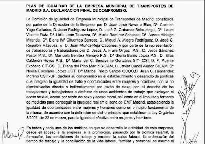 PLAN DE IGIALDAD de La EMT de Madrid