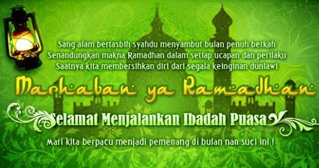 Kata Ucapan Menyambut Bulan Ramadhan