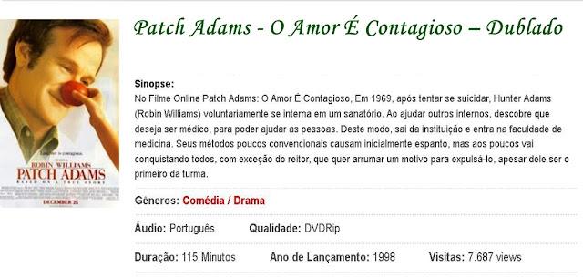 o filme patch adams o amor contagioso dublado gratis
