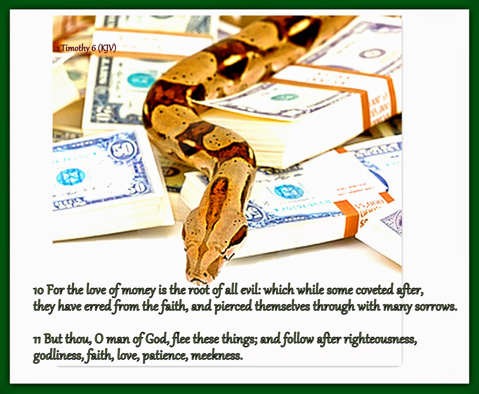 Money Is The Root Of All Evil Png: Red Pill Diaries: 1 Timothy 6 (KJV
