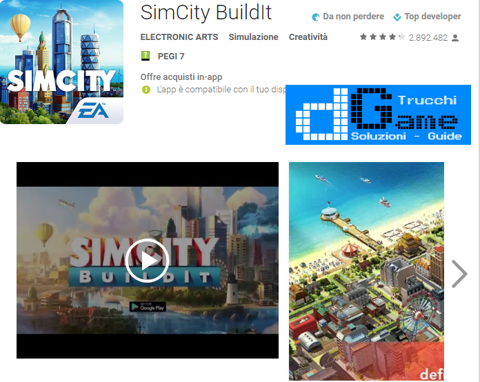 Trucchi SimCity BuildIt Mod Apk Android v1.16.7.52704