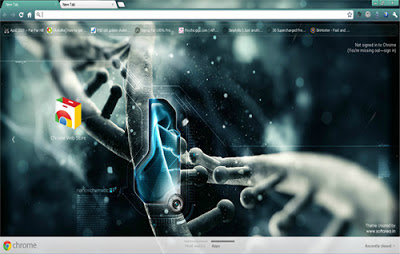 DNA Technology Google Chrome Theme
