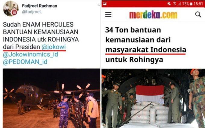 """Gak Punya Malu! Bantuan Untuk Rohingya dari Masyarakat Indonesia """"Diklaim"""" Dari Presiden Jokowi"""