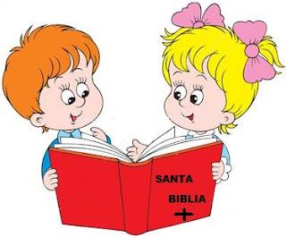 Dibujo por el Don de la Sabiduría, niños leyendo la biblia
