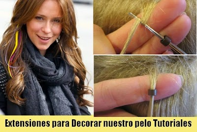 Ponernos UNA Extension para Decorarnos el Pelo