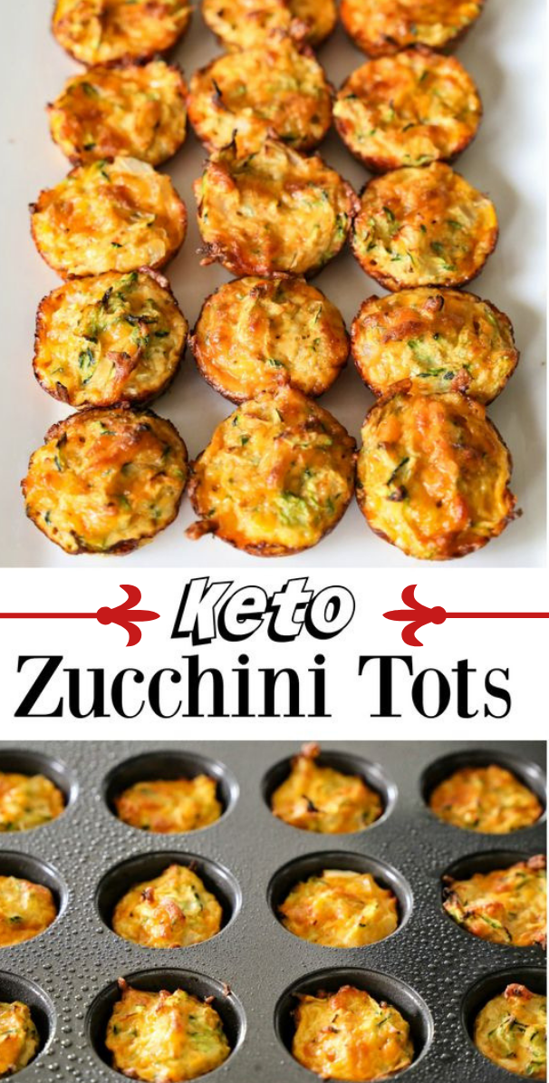 Zucchini Tots From The Ketogenic Cookbook #diet #delicious