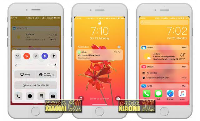 cara install Tema Iphone untuk Xiaomi
