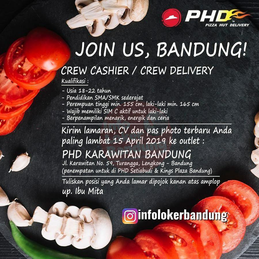 Lowongan Kerja Part Time Pizza Hut Delivery ( PHD) Karawitan Bandung April 2019