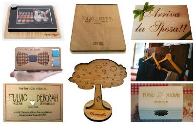 matrimonio accessori legno