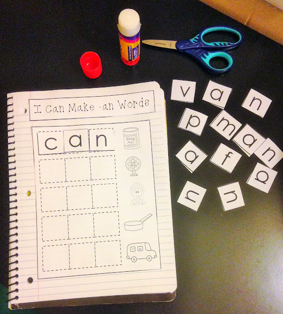 https://www.teacherspayteachers.com/Product/CVC-Word-Families-Interactive-Notebook-1235903