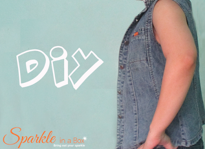 DIY sleeveless denim