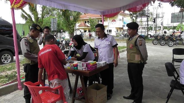 Polres Musi Banyuasin Gelar Berobat GRATIS dan Donor Darah
