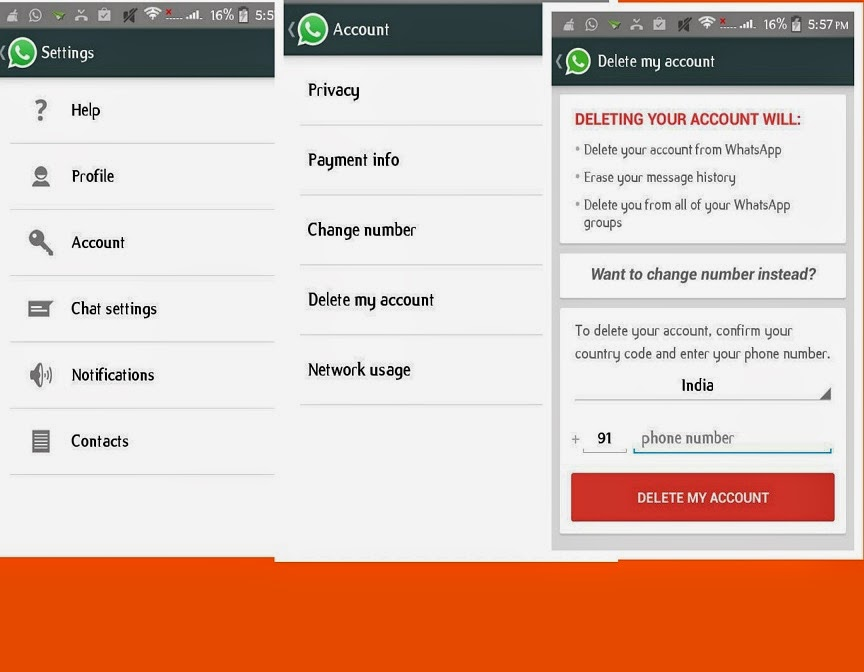 How You Delete Your Android Whatsapp Account