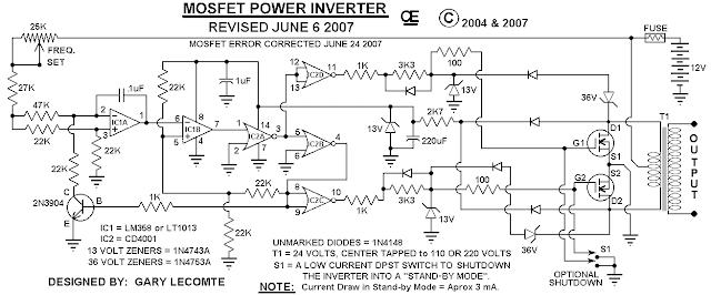 500w Mosfet Inverter 12v To 110v 220v Manual Guide