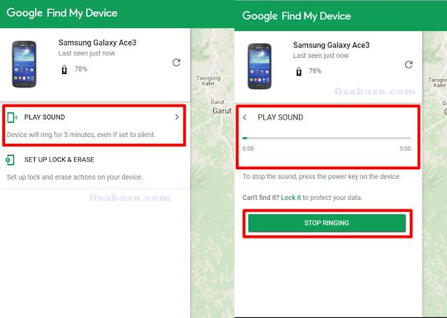 Cara membunyikan Hp Android yang hilang
