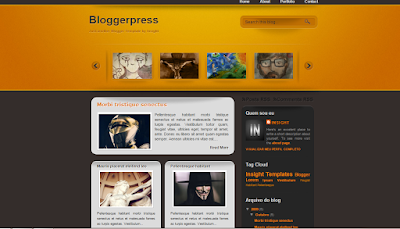 bloggerpress template for blogspot