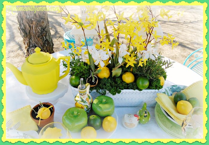 Lemon and Lime Spring Tablescape