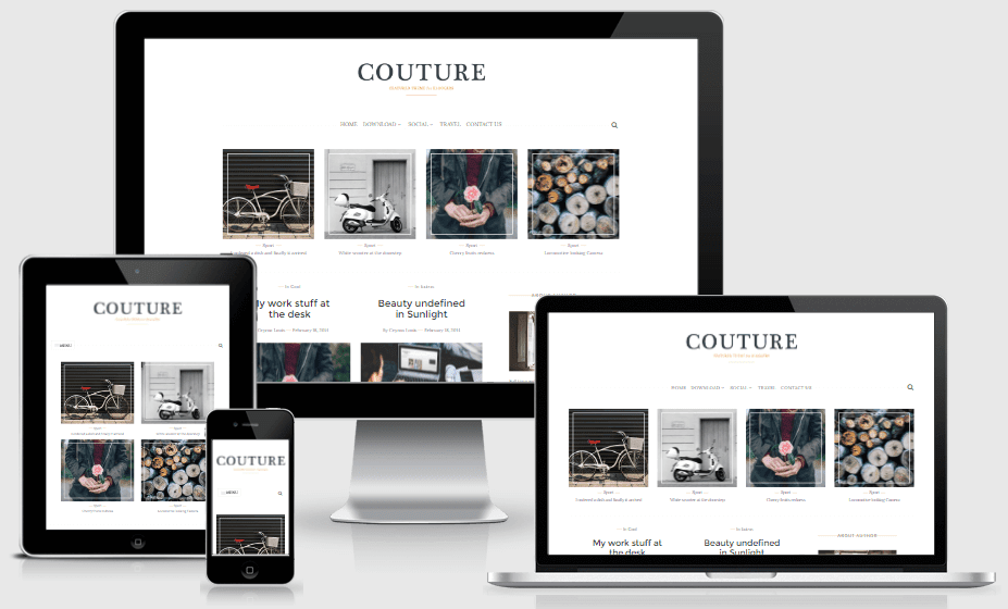 Download Couture Personal Responsive Blogger Template