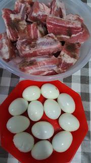 Poitrine de porc et œufs au caramel ;Poitrine de porc et œufs au caramel