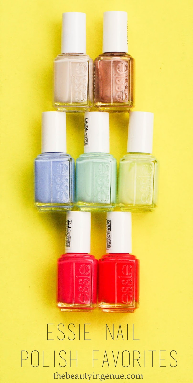 Brunettes and Pearls : Favorite Essie Nail Polishes