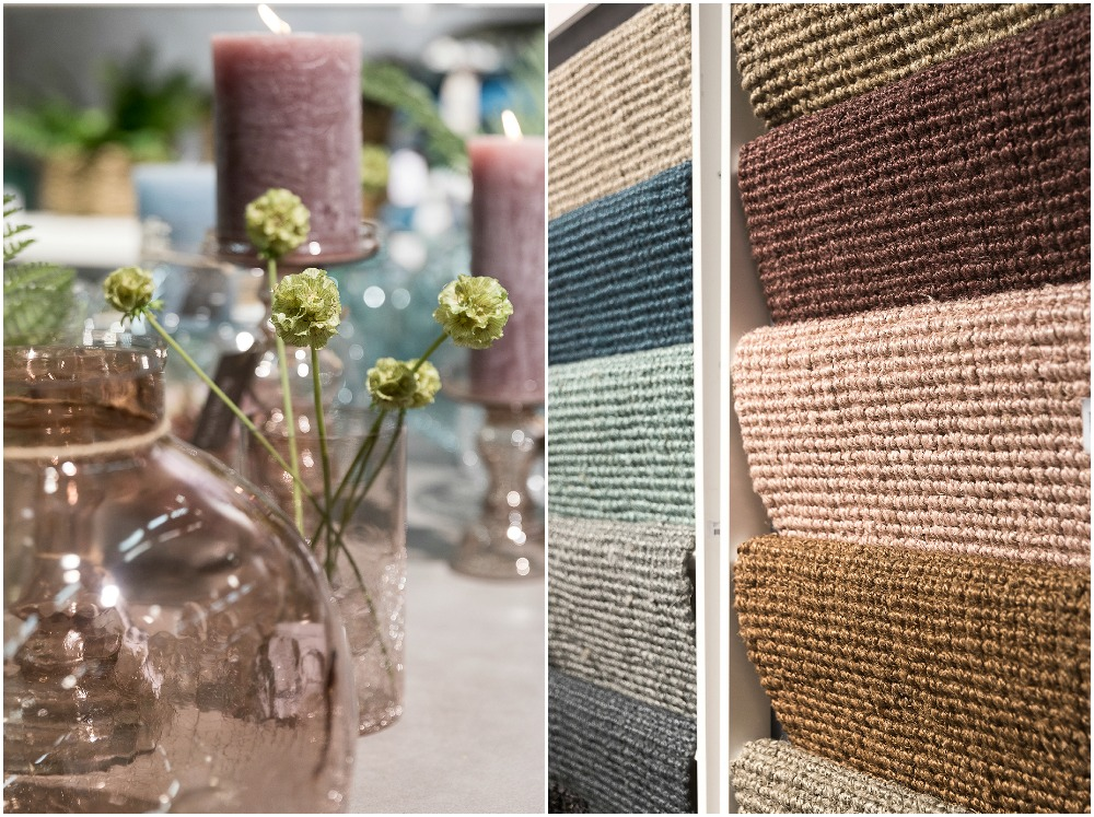 Formex, tradefair, sisustus, sisustaminen, inredning, interior, inspiration, spring, trends, trend, Visualaddict, photography, Frida Steiner, decor, decoration, trends2018, colours, home, colors, green, Popdesign, jute, rug, juuttimatto, kynnysmatto, Cosyliving, glass, candles