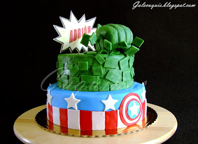 Tarta de Hulk Capitán América