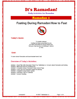 It's Ramadan Curriculum
