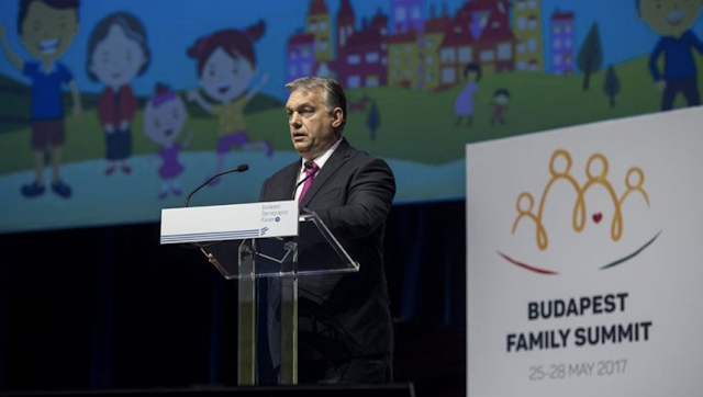 Hungarian Prime Minister Viktor Orbán at the Budapest Family Summit