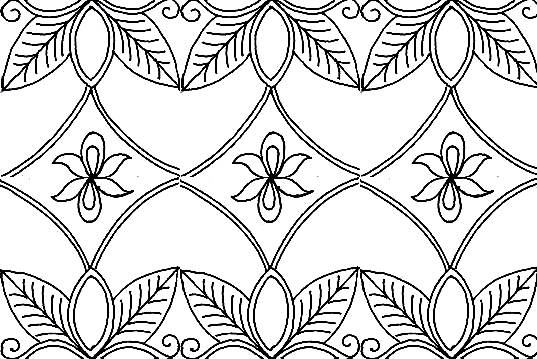 Gambar Motif Batik Cap Bunga Sketsa Di Rebanas Rebanas